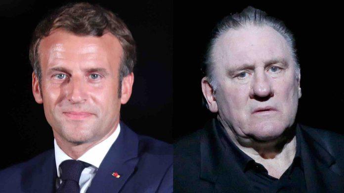 Emmanuel Macron fasciné par Gérard Depardieu (détail)