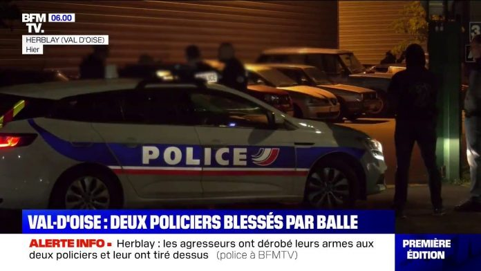 Herblay: Deux policiers blessés par balles dans le Val-d'Oise
