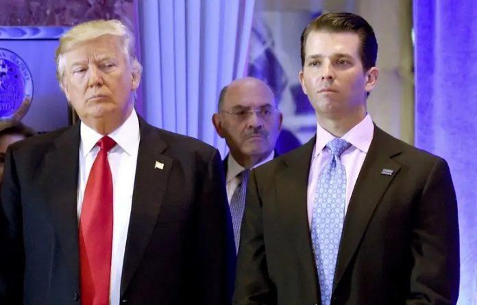 Le fils de Donald Trump testé positif au Covid-19 (détail)