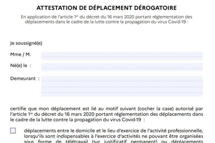 Attestation de déplacement Covid : comment remplir et télécharger l'attestation