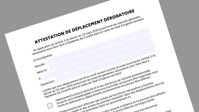 COVID-19 France en direct : Télécharger l'attestation de déplacement dérogatoire