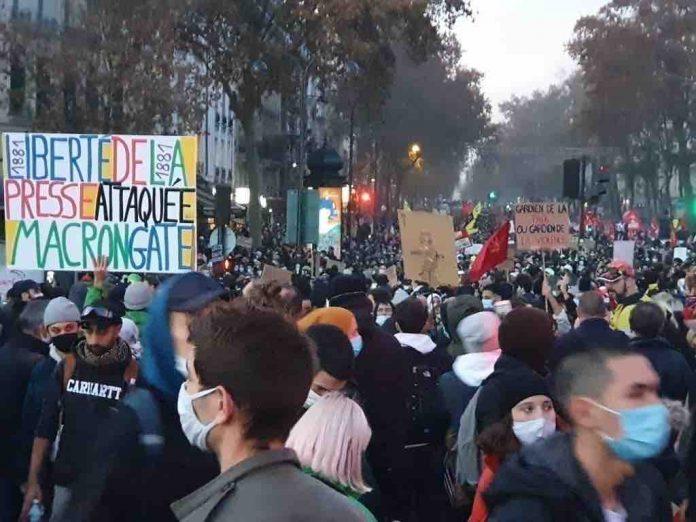 Un nouveau samedi de manifestations contre la loi « sécurité globale » (détail)