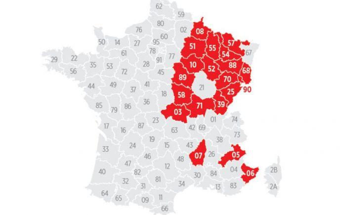 Couvre-feu avancé à 18 heures : découvrez la carte des départements concernés (détail)
