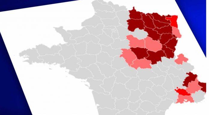 Couvre-feu avancé à 18h : Voici la carte des 10 départements concernés (détail)