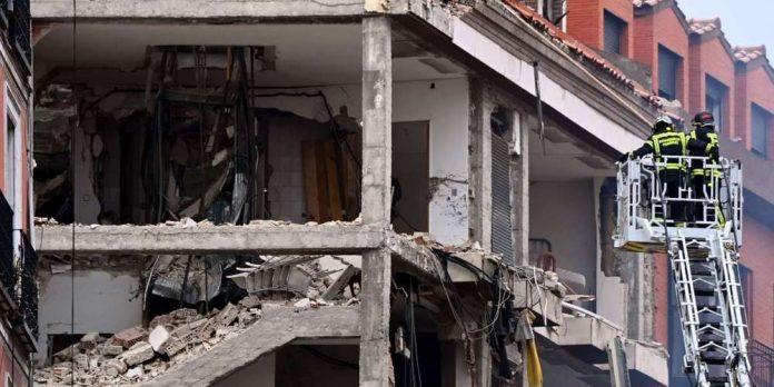 Forte explosion dans un immeuble du centre de Madrid :