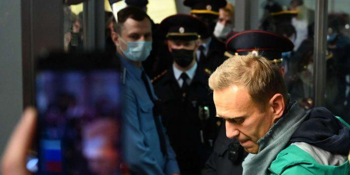 La France appelle à la libération d'Alexeï Navalny (détail)