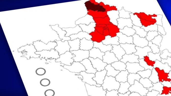 Covid-19 : la carte des 20 départements placés sous «surveillance renforcée» (VIDEO)