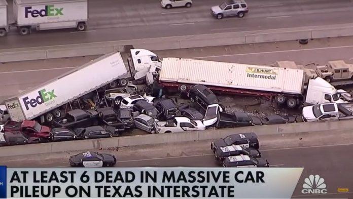 Etats-Unis : Carambolage monstre au Texas, 133 véhicules encastrés (VIDEO)