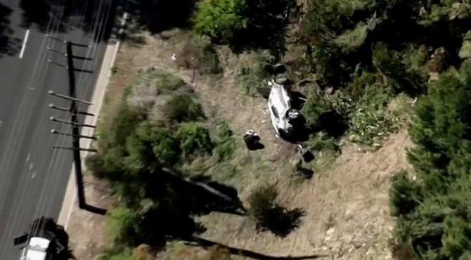 Les images terrifiantes de l'accident de voiture de Tiger Woods (PHOTO)