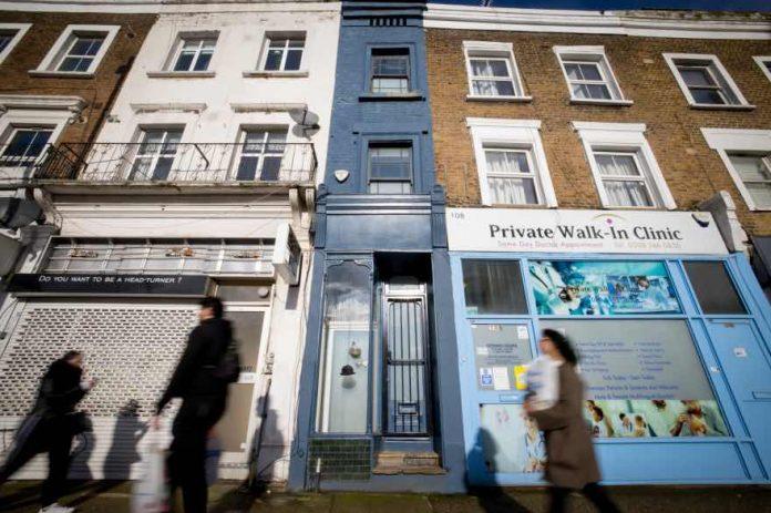 Londres : une maison d'1,7 mètre de large en vente plus d'1 million d'euros (Photo)