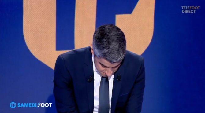 TV : Scène bouleversante sur le plateau de Téléfoot (Vidéo)