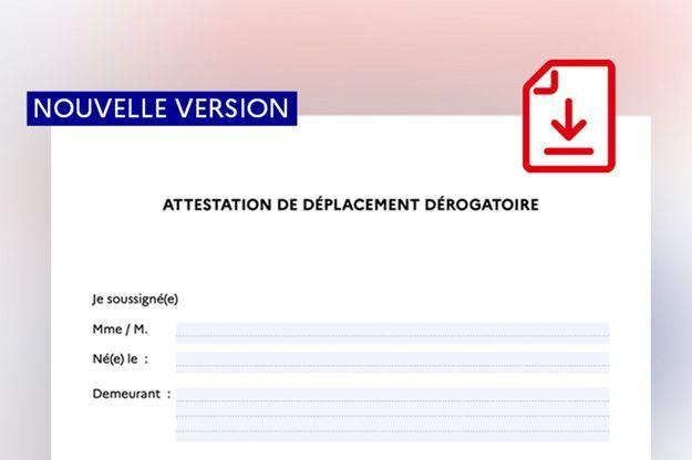 Attestation de déplacement en France : voici le nouveau document valable dans tout le pays