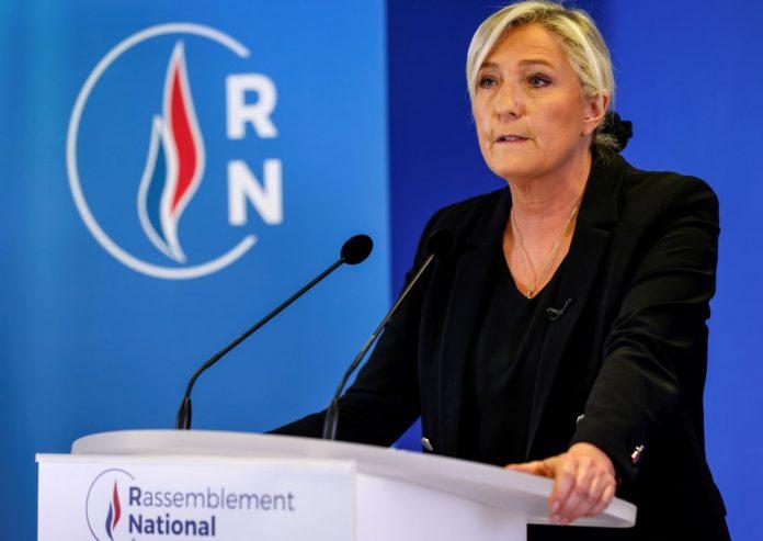 Marine Le Pen va quitter la présidence du Rassemblement national (détail)