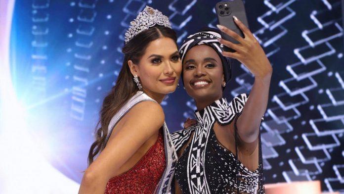 Miss Univers 2021 : Miss Mexique sacrée, Amandine Petit dans le top 21 (détail)