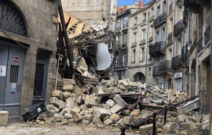 Bordeaux: Deux immeubles s'effondrent faisant trois blessés dont un grave
