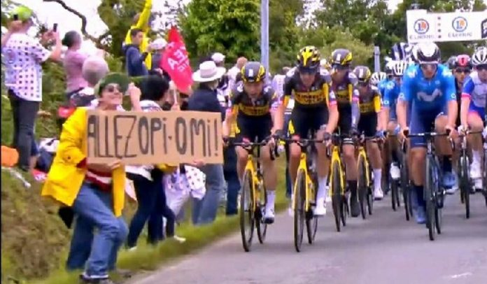 Chute sur le Tour de France : une plainte contre la spectatrice en cause, la gendarmerie lance à un appel à témoins (VIDEO)