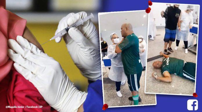 Il perd connaissance en recevant le vaccin COVID-19 (Video)