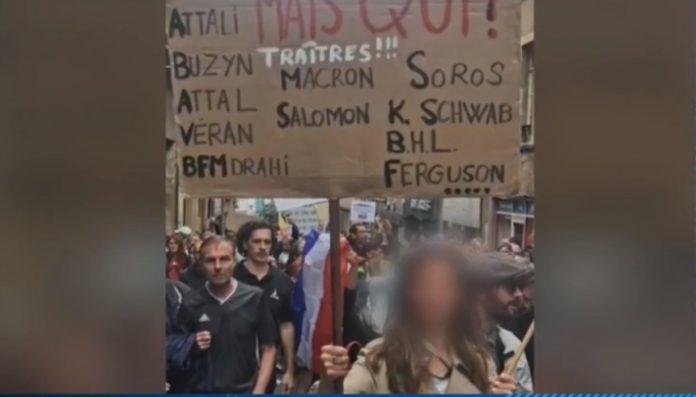 Manifestations anti-pass : enquête ouverte sur une pancarte antisémite à Metz